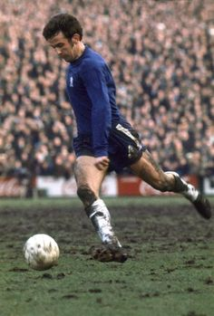 JOHN HOLLINS of CHELSEA looks to cross the ball into the box during a League Division One match at Stamford Bridge...