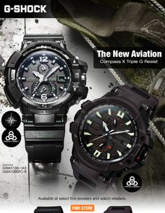 Casio G-Shock Compass X Triple G Resist watch