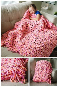 This ultimate beginners crochet pattern. This cozy crochet blanket is so easy, quick and fun to make. You don't need much experience to make this blanket and you can crochet it up in a jiffy.