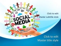 무료 소셜 미디어 네트워크 PPT 템플릿