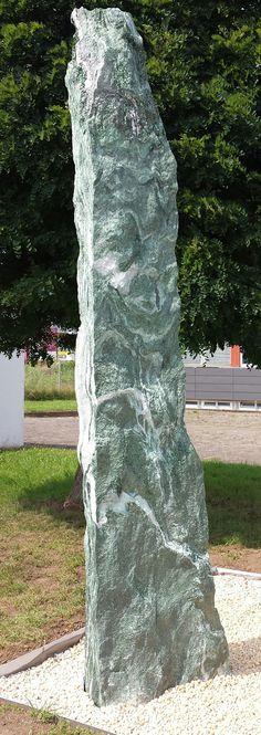handgearbeiteter wandbrunnen aus kalkstein - garten brunnen, Innenarchitektur ideen