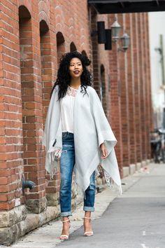 Dynamite Clothing, Poncho, BlasianGurl, Victoria Kristine, Toronto, Toronto Blogger, Style Blog, Fashion, Boyfriend Jeans,