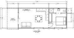 diamond-villa-homes | Diamond -1: 1 BED ROOM GRANNY FLAT Granny Flat, Flat Design, Villa, Floor Plans, Homes, Cabin, Bedroom, Diamond, Building