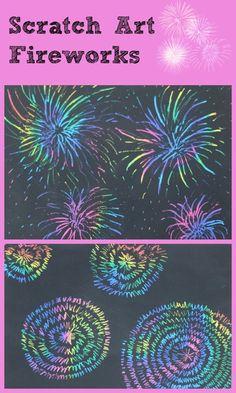 scratch art fireworks
