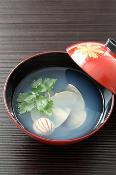 Japanese clear soup for March The Doll's festival ( girl's day ) Hina Matsuri, Festival Girls, Girl Day, Japanese Food, Food Photo, Sushi, Food And Drink, Cooking, Tableware
