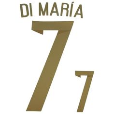 Argentina 2014 World Cup Di María #7 Adult Away Name Set