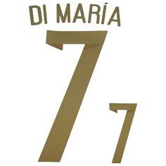 Argentina 2014 World Cup Di María #7 Adult Away Name Set