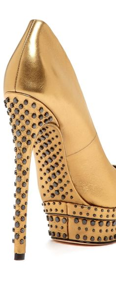 Bold Gold by Brian Atwood Shoe Boots, Shoes Heels, Pumps, Stiletto Heels, High Heels, Brian Atwood Shoes, Gold Shoes, Fashion Heels, Emo Fashion