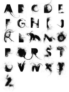 Graffiti alphabet >> alphabet letter a-z hair alphabet design Alphabet Graffiti, Typography Alphabet, Typography Fonts, Graffiti Art, Alphabet Design, Creative Typography, Graphic Design Typography, Graphisches Design, Logo Design