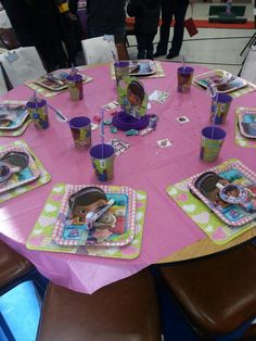 Table set up with lab jackets on chairs · Lab JacketsDoc Mcstuffins4th ... & Doc McStuffins Number 1 Cake | Things I love | Pinterest | Cake and ...