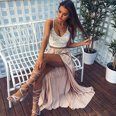 Summer Outfit Ideas You Should Try In 2019 - Awesome Outfits - Outfit Trends Today Spring Summer Fashion, Spring Outfits, Summer Crop Top Outfits, Beach Outfits, Maxi Skirt Outfit Summer, Elegant Summer Outfits, Casual Outfits, Glamorous Outfits, Dress Summer