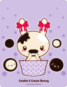 Cookie and Cream Truffle Bunny by mAi2x-chan.deviantart.com on @deviantART
