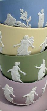 Jasperware Tea Cups 1997