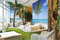 Blue, beach, decor, Miami, infeel Print, Decor, Furniture, Outdoor Decor, House, Home, Sun Lounger, Outdoor Furniture, Prints, Wall Coverings