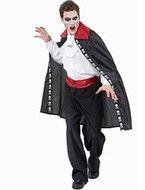Zwarte vampier mantel Dracula Halloween