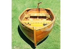 Cedar Rowboat Dingy Wood Strip Built Gloss Finish Row Boat Tender New Wooden Boat Building, Boat Building Plans, Wooden Boat Kits, Dinghy Boat, Boat Dock, Jon Boat, Duck Boat, Duck Blind Plans, Model Boat Plans