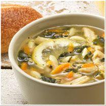Copycat lemon chicken orzo soup from Panera!