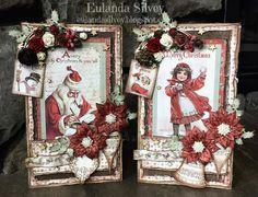 Cards and More Cards: Maja Vintage Christmas Creative Christmas Cards, Vintage Christmas Crafts, Christmas Cards To Make, Retro Christmas, Xmas Cards, Handmade Christmas, Holiday Cards, Christmas Journal, Christmas Scrapbook