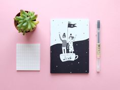 Notebook Teacup Sailors A6