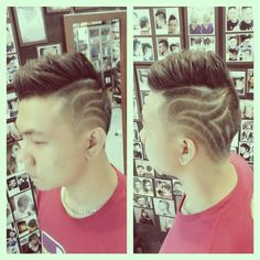 Hair cutting hair tattoo man