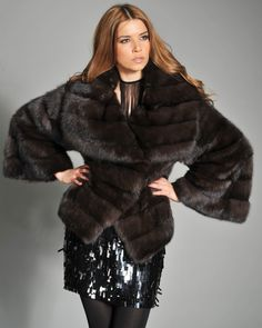 Picture perfect in this luxury-styled look featuring a Russian sable fur jacket.