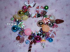 Candy Land Christmas bracelet by beadiebracelet on Etsy