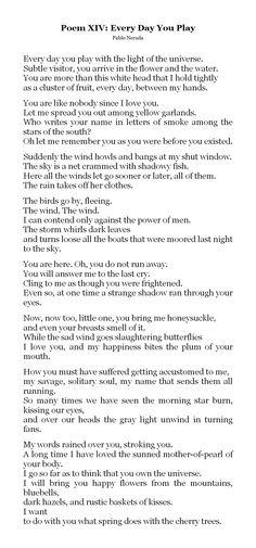 """If You Forget Me"" (Pablo Neruda) Analysis"