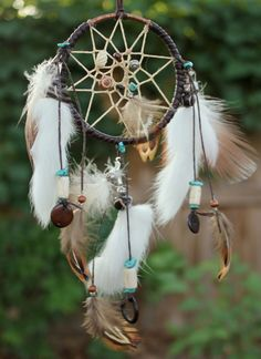 Luck Dreamcatcher, Copper / Turquoise / Chocolate, Native American, Handmade (Small) $38