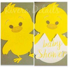 Chicken Little Invitation, Baby Shower Invitacion de pollito