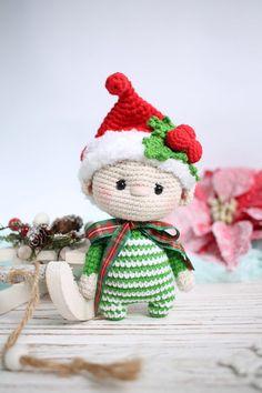 Handmade Crochet Christmas Decoration Santa Elf Rudolph Angel Xmas Tree Ornament
