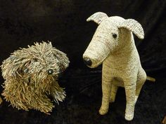 Need a dorm pet? These dogs are made from recycled newspaper and are the perfect companion!