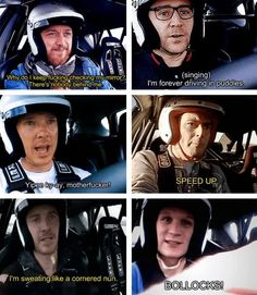 All of them are so adorable! But I LOL when Ben said that legendary sentence. XD James McAvoy, Benedict Cumberbatch, Michael Fassbender, Tom Hiddleston, David Tennant and Matt Smith at Top Gear.