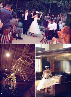 dancing down the wedding aisle