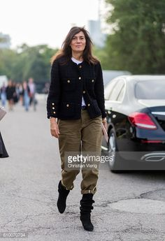 News Photo : Emmanuelle Alt outside Diesel during Milan...