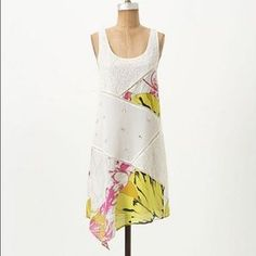 I just added this to my closet on Poshmark: Anthropologie white asymmetric dress- leifnotes. Price: $80 Size: 4