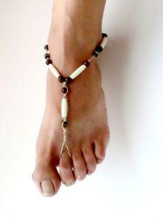 Mens Barefoot Sandals Hemp Barefoot Sandals Unisex Ritual Beach Wedding Surf Barefoot Jewelry Bone. $25.00, via Etsy.