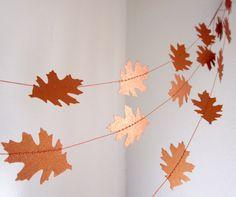 Paper Garland - Crisp Fall Days. $18.00