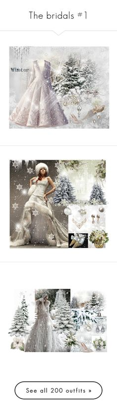 """The bridals #1"" by dezaval ❤ liked on Polyvore featuring Casadei, Vivien Sheriff, Federica Rettore, Claudia Baldazzi, Elie Saab, Bling Jewelry, Carolee, Pottery Barn, Philip Treacy and Juliet & Company"