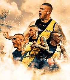Richmond Afl, Richmond Football Club, Australian Football League, Tiger Poster, Tiger Wallpaper, Tiger Love, Sports Graphic Design, King David, Collage Design