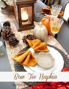 How to: Bow Tie Napkin