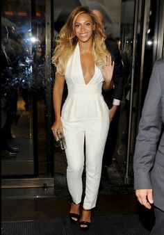 ca9b5c87a4d Photo Beyonce keeps it sexy in a white jumpsuit at the Chime for Change  One-Year Anniversary event at Gucci Fifth ...
