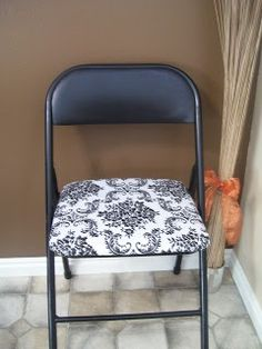 pinterest how to cover chairs | How to Cover Folding Chairs | DIY