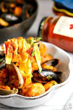 Italian Food ~ #food #Italian #italianfood #ricette #recipes ~ Seafood Pasta