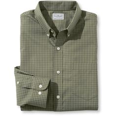 L.L.Bean Wrinkle-Free Check Shirt, Slightly Fitted ($35) ❤ liked on Polyvore featuring men's fashion, men's clothing, men's shirts, men's casual shirts, mens long sleeve casual shirts, mens checkered shirts, mens fitted short sleeve shirts, colorful mens dress shirts and mens fitted shirts