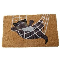"Cat in Rope Doormat Size: 18"" x 30"" by Imports. $28.01. 301 BCM Size: 18"" x 30"" Features: -Technique: Woven / Crafted.-Material: Coir.-Origin: India.-Non-Slip Backing. Construction: -Construction: Handmade. Dimensions: -Pile height: 1''. Collection: -Collection: Imports D cor."