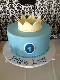 Royal Prince 1st birthday cake