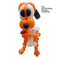 Orange entries Balloon Dog Kam Fai Wong Kowloon, Hong Kong