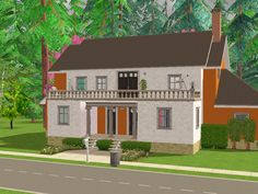 """In lieu of a follower's gift (which I'm going to work on… as soon as I know what I'd like to do for you guys!) I bring you a lot download… """" Humdrum Hall (6 Rooms) - a dormitory lot. Every YA sim has..."""
