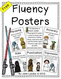 Free Fluency Posters! Great posters to get your students to understand what it will take to become a fluent reader.