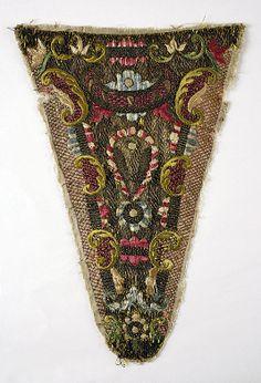 Linen Stomacher 18th century British